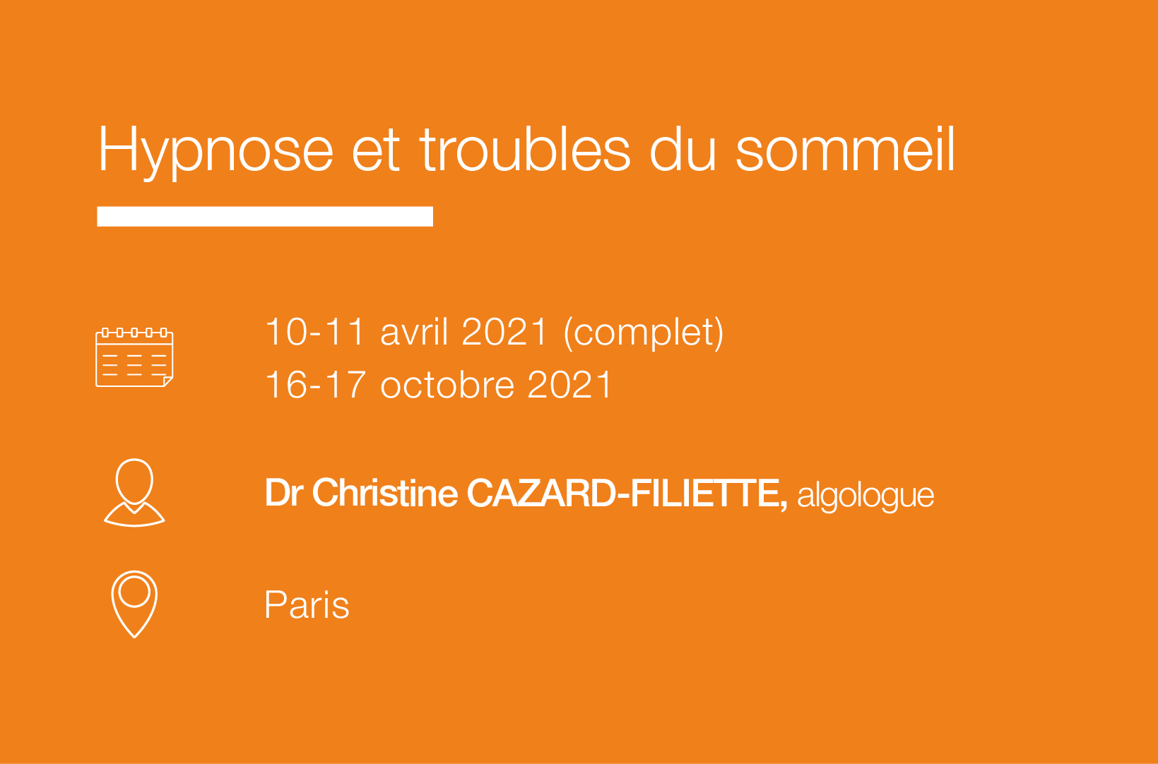 Seminaire formation Troubles-sommeil-hypnose-IFH