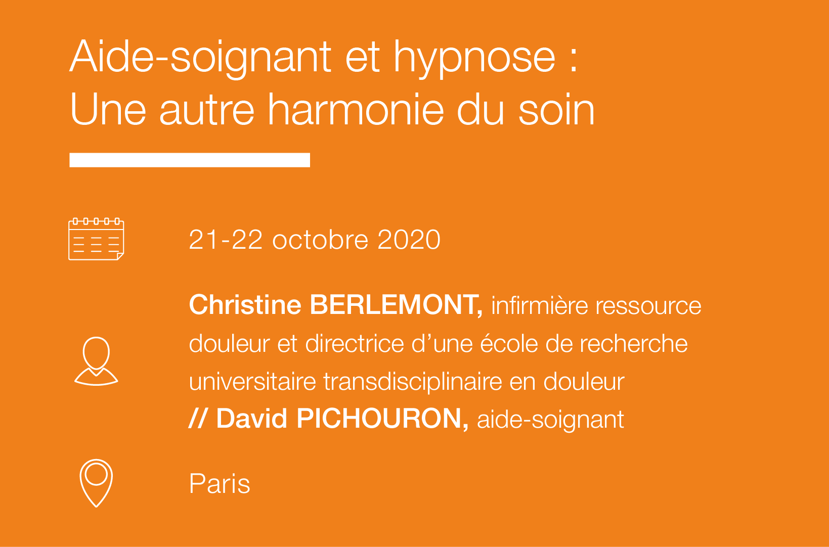 Seminaire Aide-soignant et hypnose - une autre harmonie du soin IFH