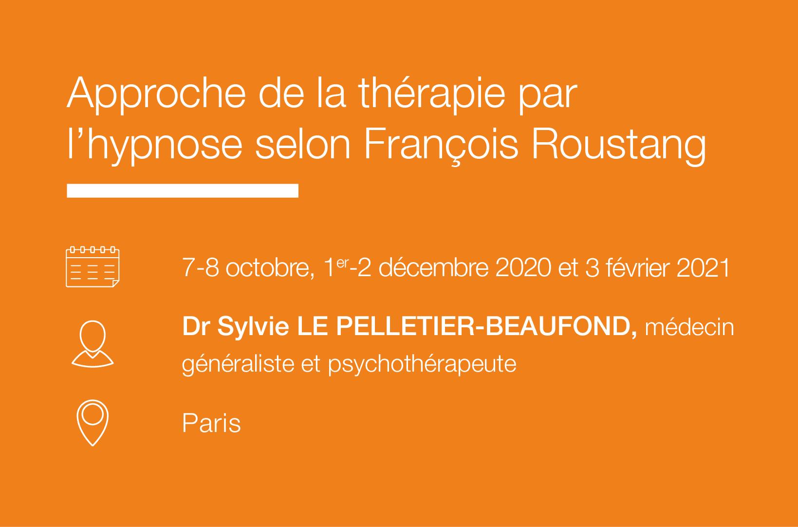 Cycle Approche de la therapie par l hypnose selon Francois Roustang IFH