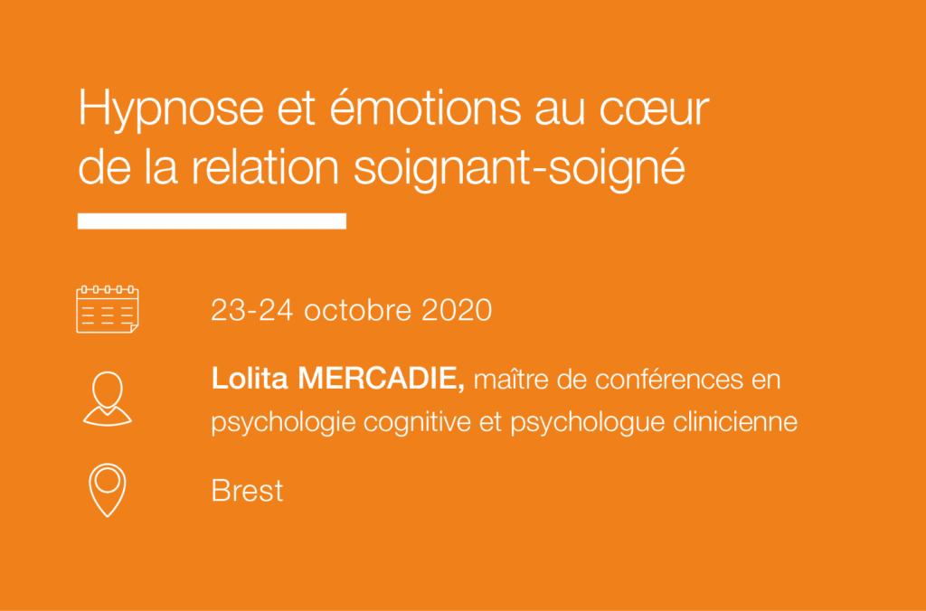Seminaire Hypnose et emotions au cœur de la relation soignant-soigne-Brest IFH