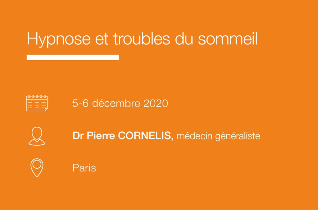 Seminaire Hypnose et troubles du sommeil-Cornelis IFH