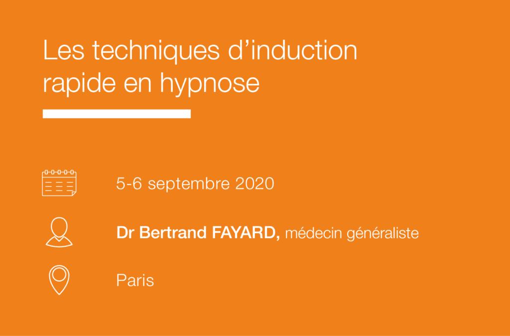 Seminaire Techniques induction rapide en hypnose IFH