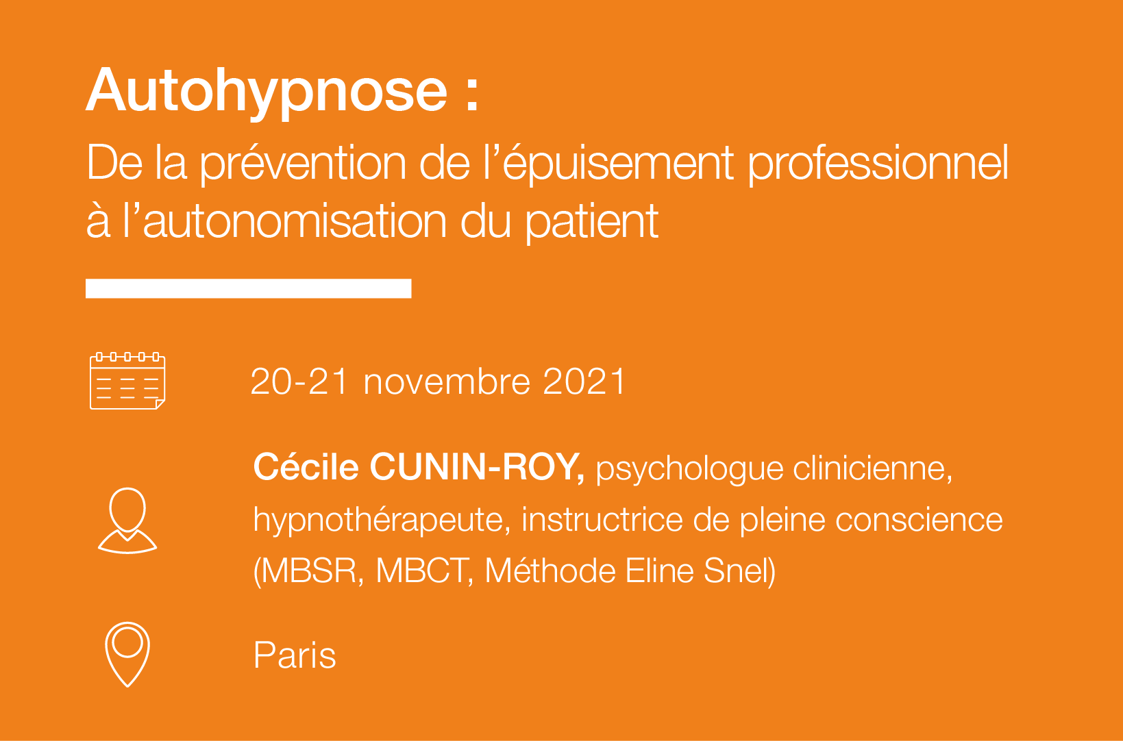 Seminaire Autohypnose Prevention epuisement professionnel-IFH