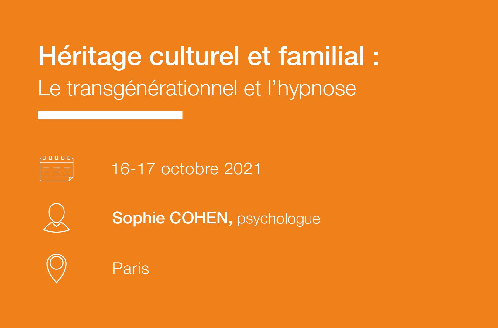 Seminaire Heritage culturel et familial Le transgenerationnel et l hypnose IFH
