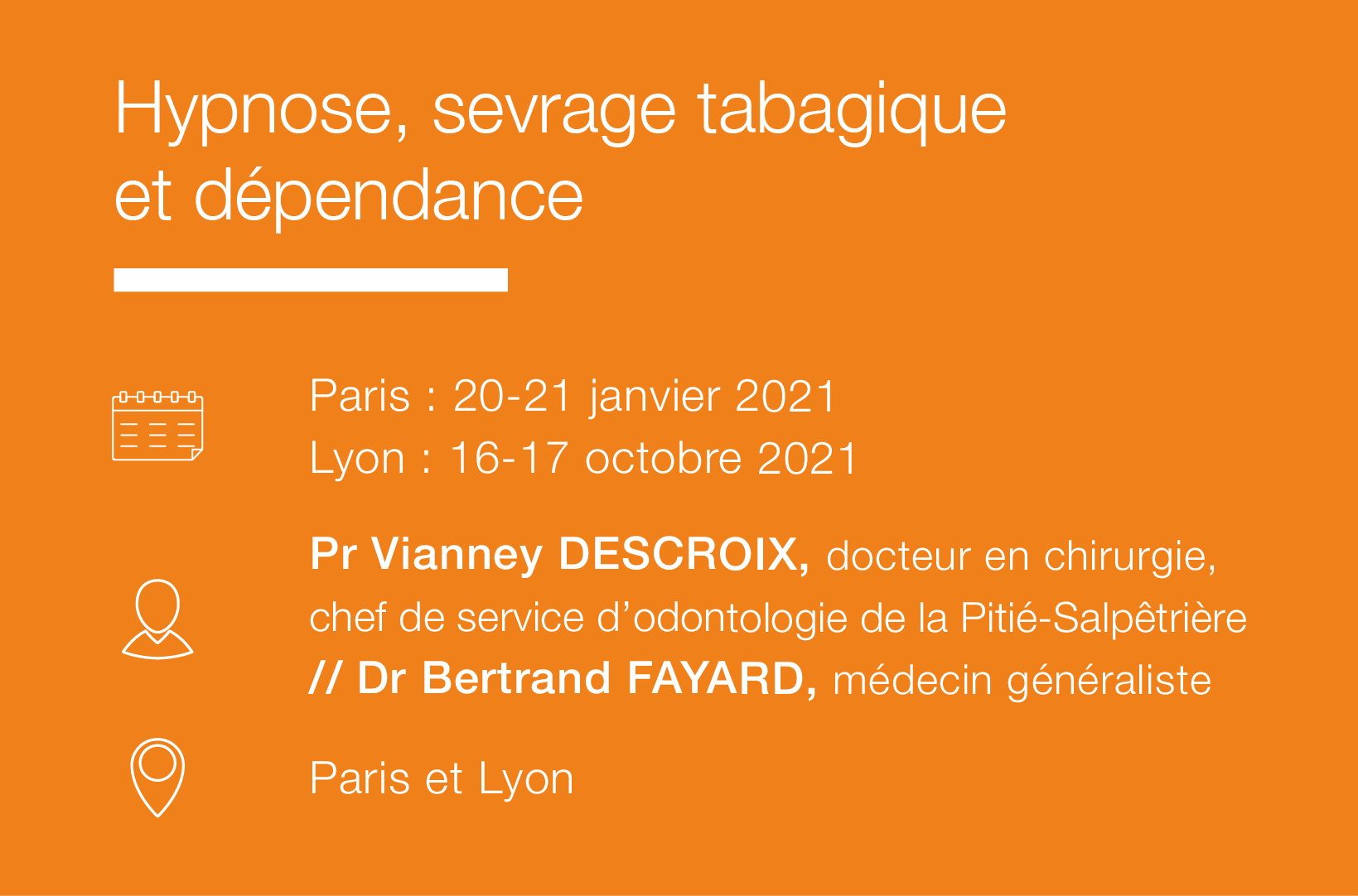 Seminaire Hypnose Sevrage tabagique dependance-IFH