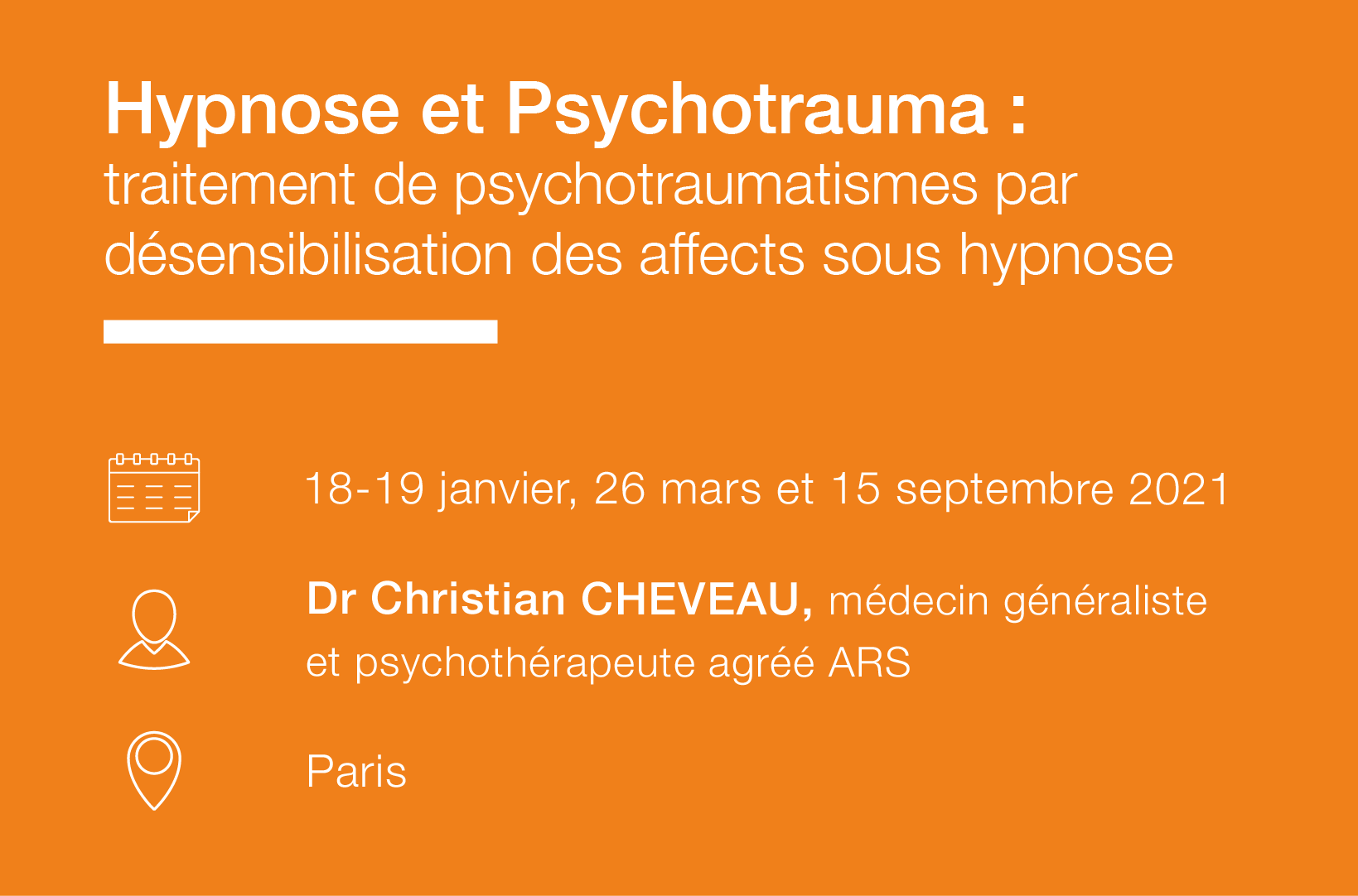 Cycle thematique Hypnose psychotrauma IFH