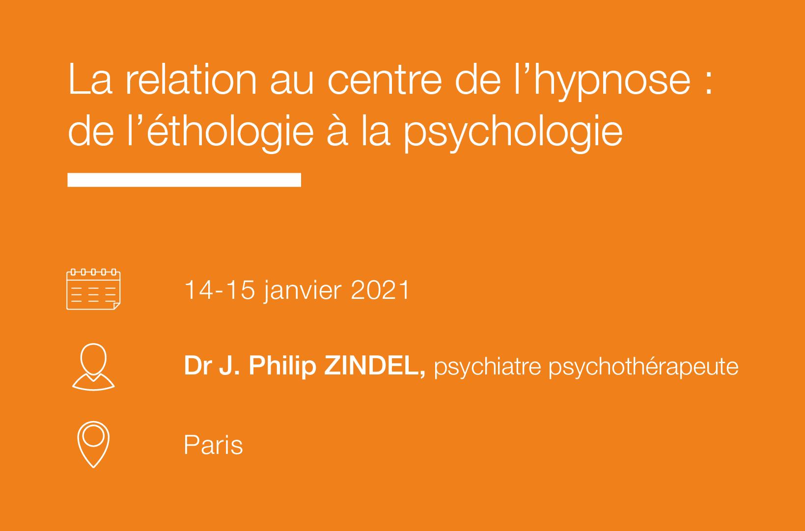 Seminaire La relation au centre de l hypnose De l'ethologie à la psychologie-IFH