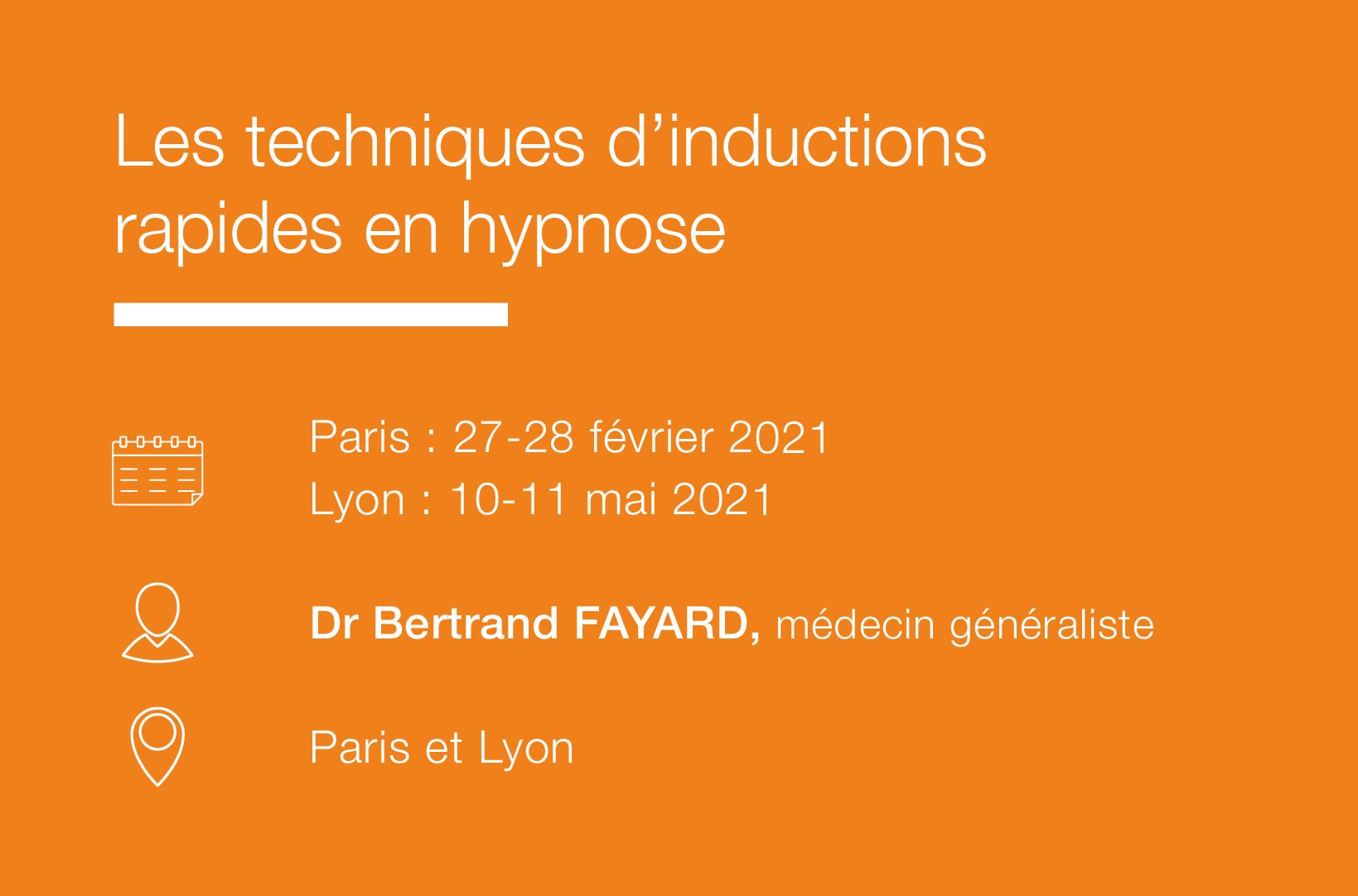Seminaire Les techniques d Inductions rapides en hypnose-IFH