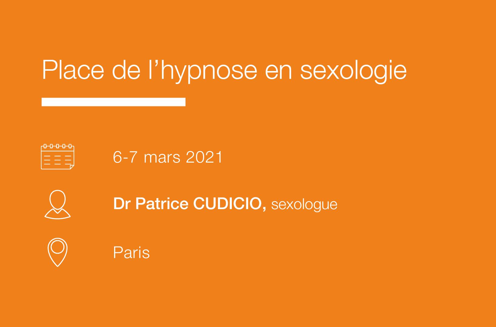 Seminaire Place de l Hypnose en Sexologie-IFH