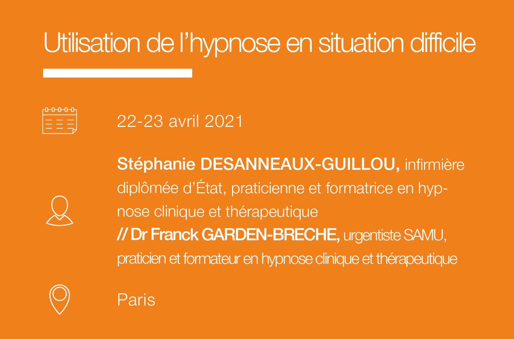 Seminaire Utilisation de l hypnose en situation difficile-IFH