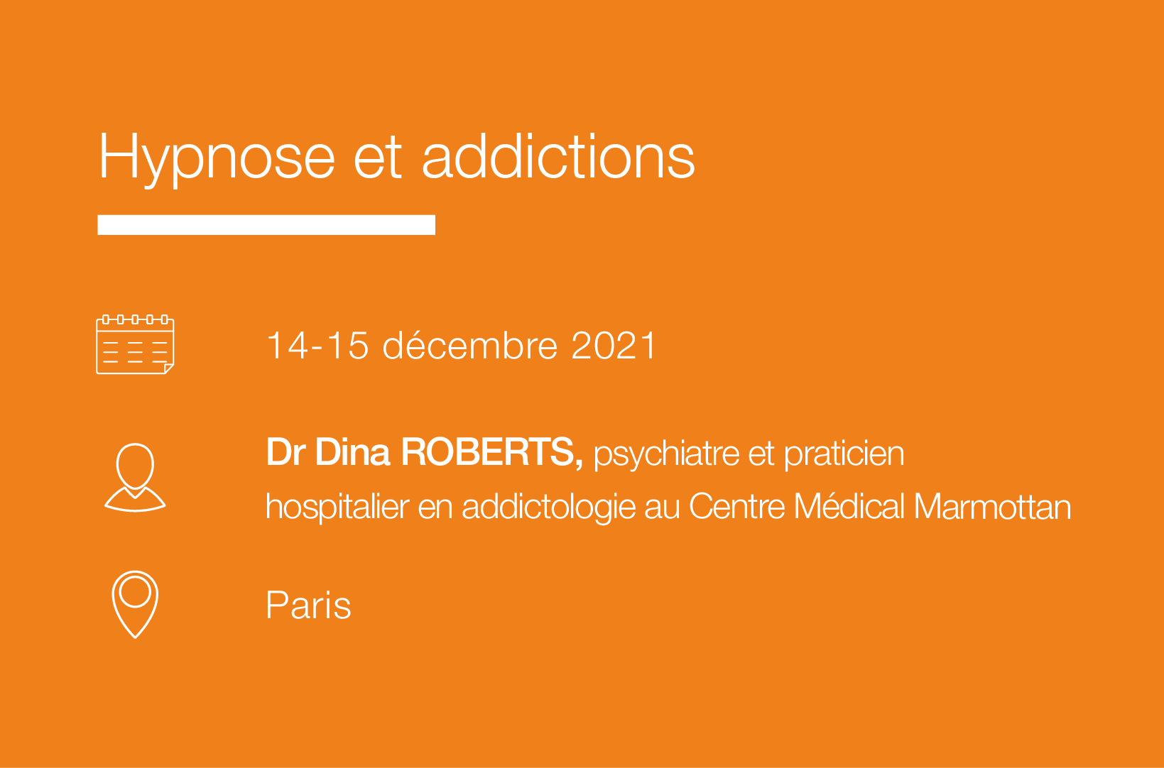 Seminaire Hypnose et addictions IFH