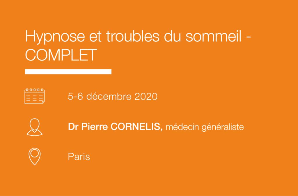 Formation Seminaire Hypnose et troubles du sommeil-Cornelis-IFH