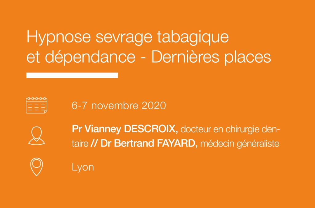 Seminaire Hypnose sevrage tabagique et dependance – Lyon IFH