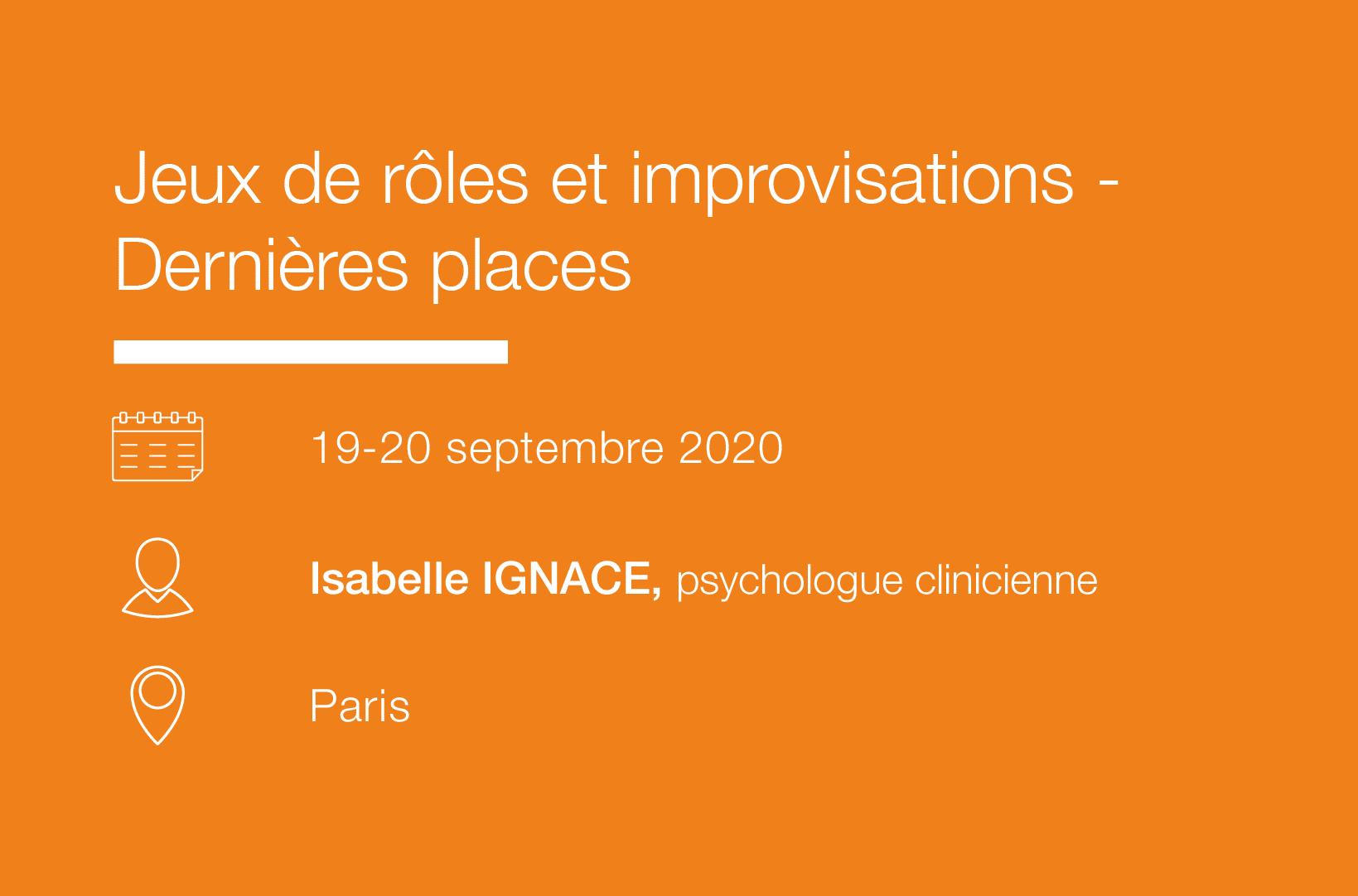 Seminaire Jeux de roles et improvisations - IFH
