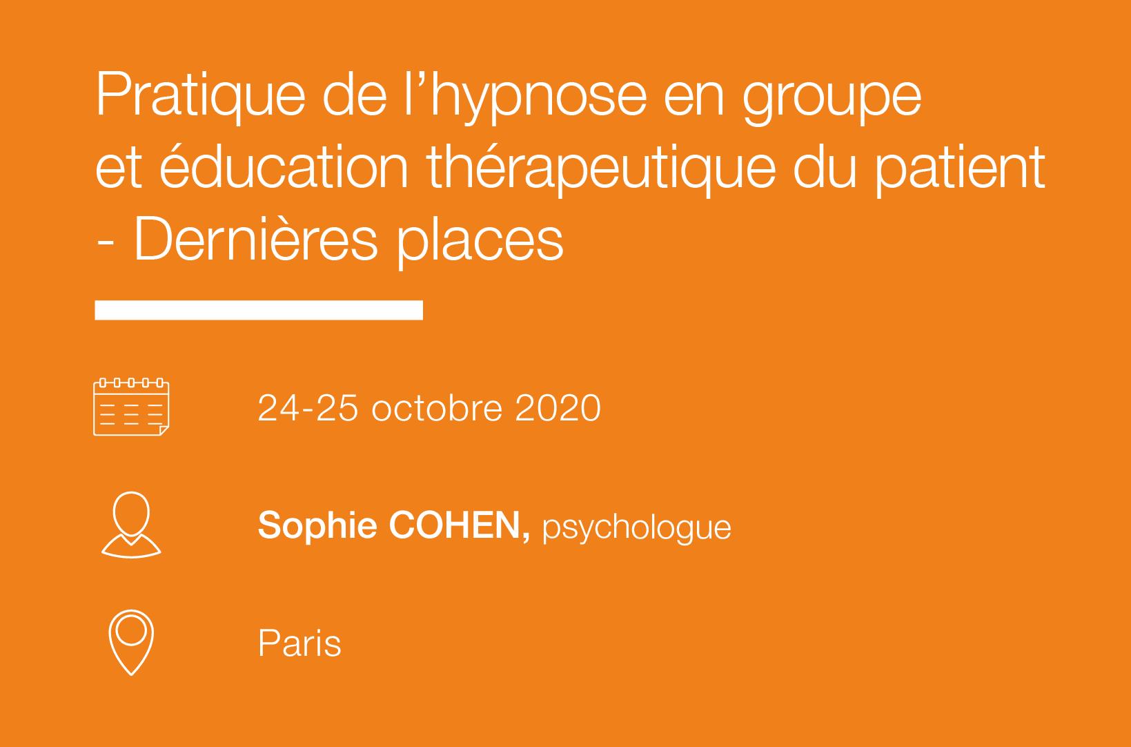 Seminaire Pratique de l hypnose en groupe et education therapeutique du patient - IFH