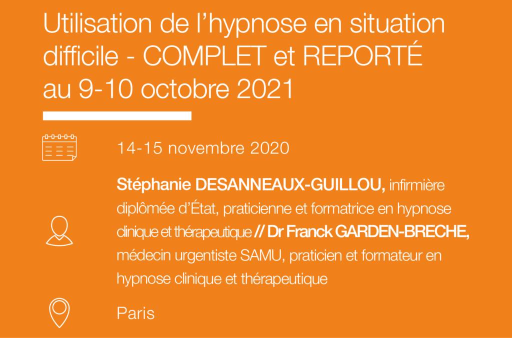 Formation seminaire IFH Utilisation de l hypnose en situation difficile